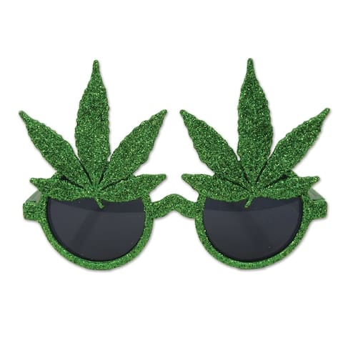 Beistle Costume Party Glittered Weed Glasses (Pack of 6)