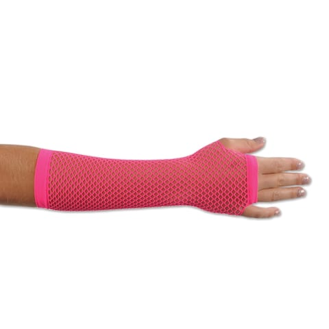Beistle 80's Costume Party Cerise Fishnet Gloves (Set of 12)