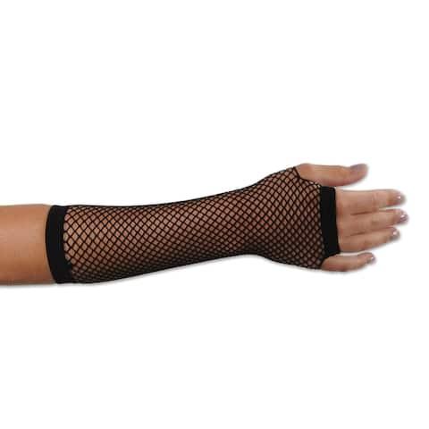 Beistle 80's Black Costume Party Fishnet Gloves (Set of 12)