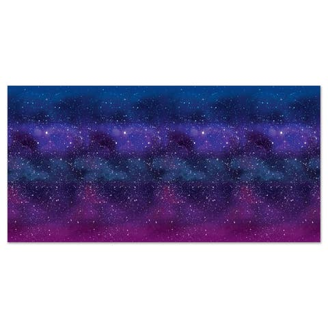 Beistle 4' x 30' Space Insta Theme Galaxy Party Backdrop - 6 Pack (1/Pkg)