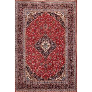 "Kashan Medallion Handmade Wool Persian Area Rug - 14'0"" x 9'5"""