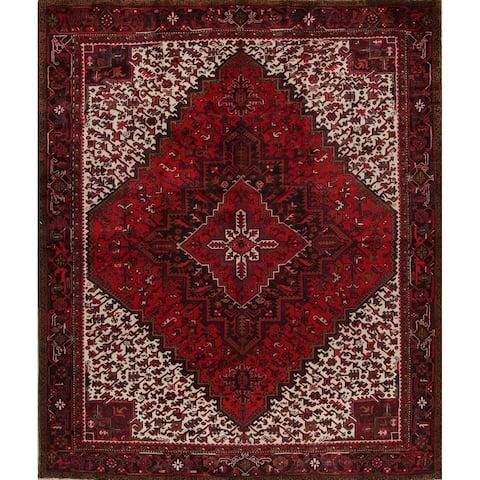 "Heriz Geometric Hand Knotted Wool Persian Area Rug - 12'1"" x 10'0"""