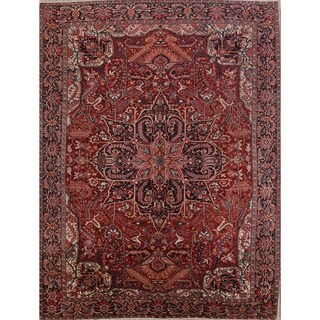 """Antique Heriz Geometric Hand Knotted Wool Persian Large Area Rug - 15'8"""" x 11'10"""""""