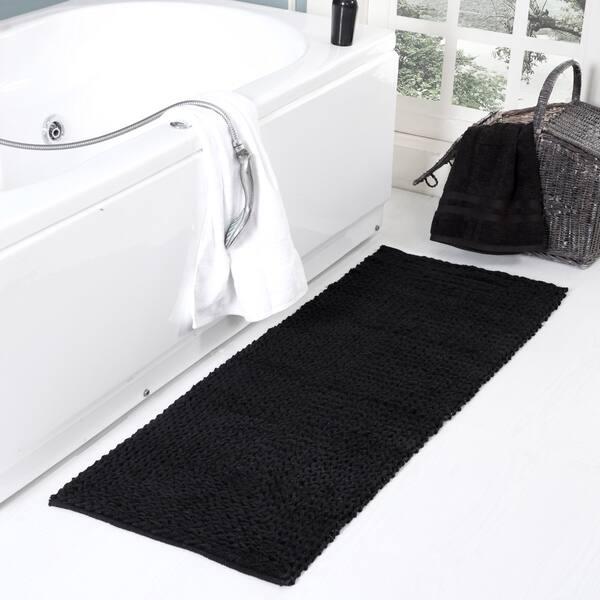 Braided Chenille Oversized Bath Rug