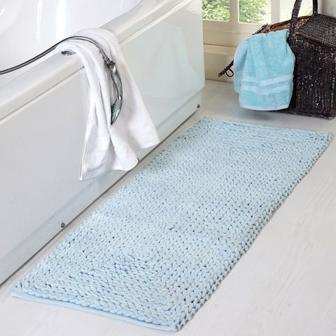Braided Chenille Oversized Bath Rug 22' x 60' - 22 x 60
