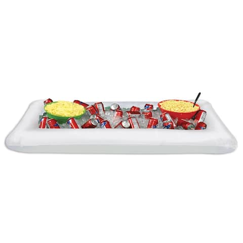 "Beistle 28""W x 4' 5.75""L Inflatable White Novelty Buffet Cooler - 6 Pack (1/Pkg)"