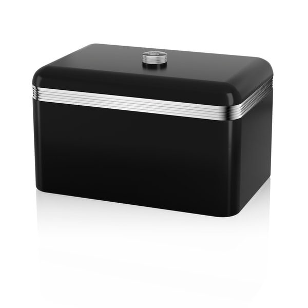 Retro Bread Bin Black