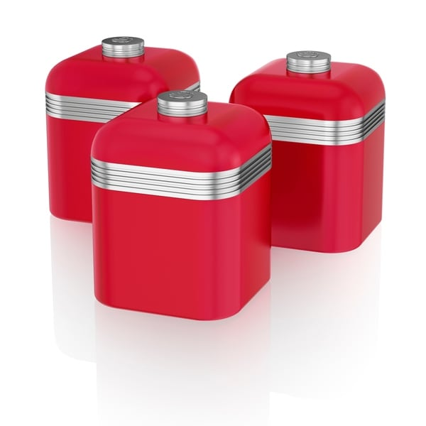 Retro 3 Cannisters Red