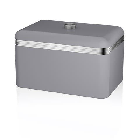 Retro Bread Bin Grey