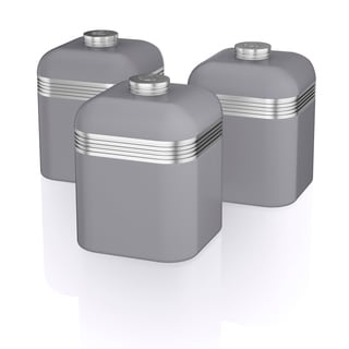 Retro 3 Cannisters Grey