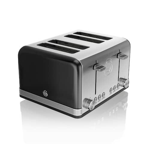 Retro 4 Slice Toaster Black