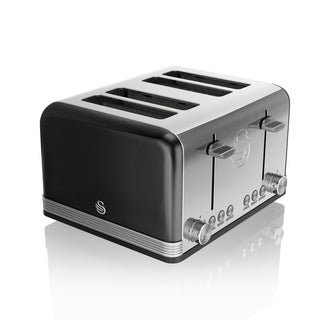 Retro 4 Slice Toaster Black