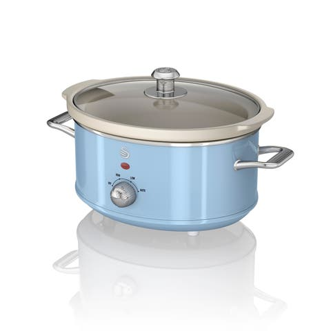 Slow Cooker 3.5L Blue