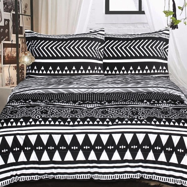 Tribal Reversable 3 Piece Comforter Set