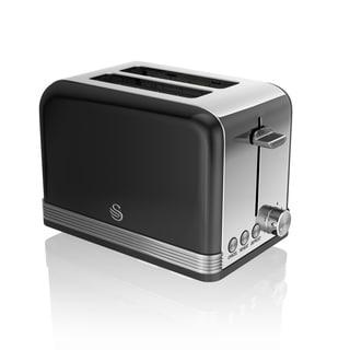 Retro 2 Slice Toaster Black