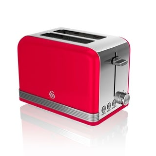 Retro 2 Slice Toaster Red