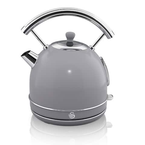 Retro Dome Kettle 1.7L Grey