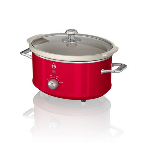 Slow Cooker 3.5L Red