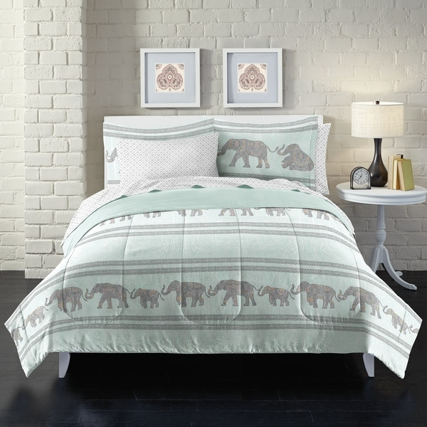 Shop Boho Elephant 7 Piece Bed In A Bag With Sheet Set Free