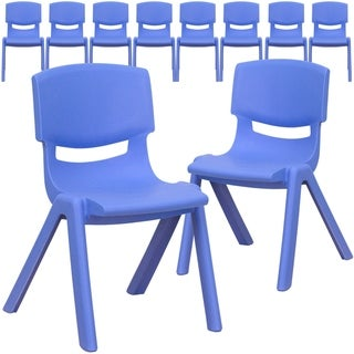 """10PK Plastic Stackable School Chair with 12"""" Seat Height - Preschool Seating"""