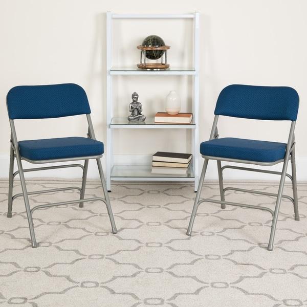 "4PK 18""W Premium Triple Braced & Double Hinged Metal Folding Chair"