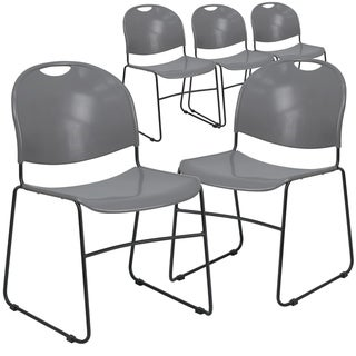 5 Pack Ultra-Compact School Stack Chair - Office Guest Chair/Student Chair
