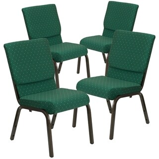 "4PK 18.5""W Stacking Church Chair - Gold Vein Frame"