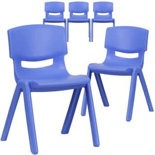 """5PK Plastic Stackable School Chair with 13.25"""" Seat Height"""