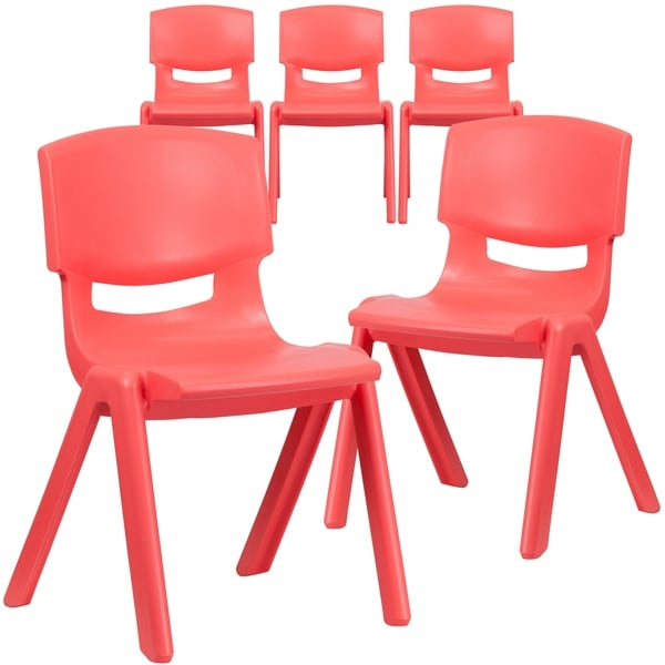 """5PK Plastic Stackable School Chair with 15.5"""" Seat Height"""