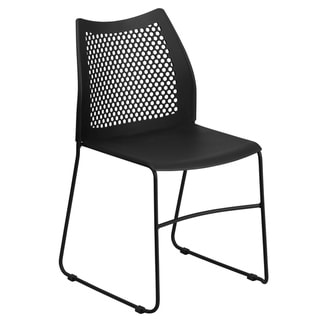 661 lb. Capacity Sled Base Stack Chair with Air-Vent Back