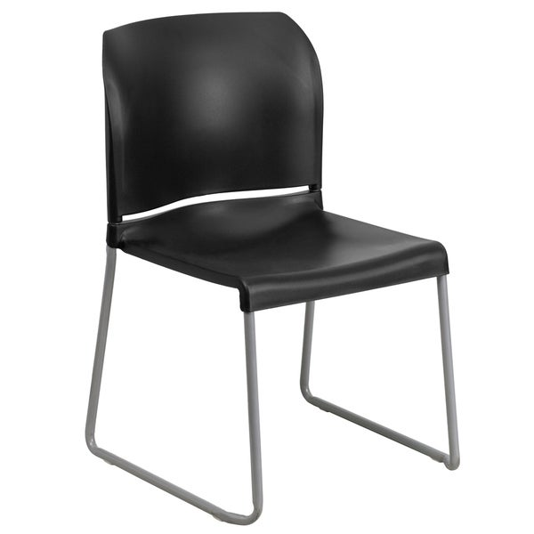 Home and Office Guest Chair Full Back Contoured Sled Base Stack Chair