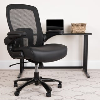 Big & Tall 500 lb. Rated Black Mesh/LeatherSoft Ergonomic Chair