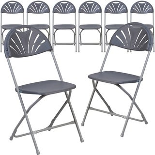 Folding Chair8PK 650 lb. Rated Plastic Fan Back Folding Chair-Commercial & Event Chairs