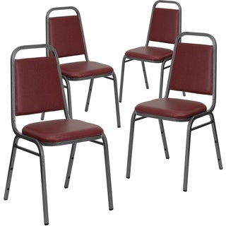 """4PK Trapezoidal Back Stacking Banquet Chair - 2.5"""" Thick Seat"""