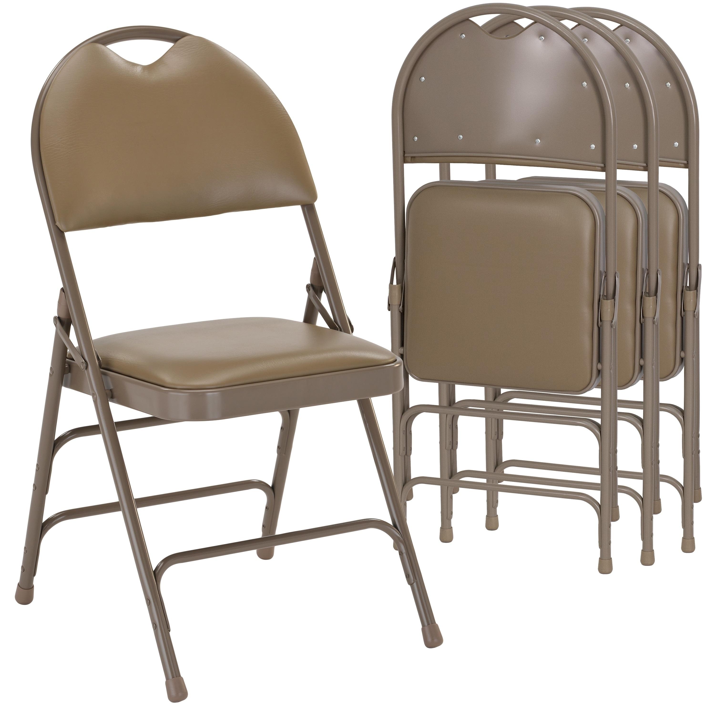 Astonishing Lancaster Home Padded Steel Frame Folding Chair Theyellowbook Wood Chair Design Ideas Theyellowbookinfo