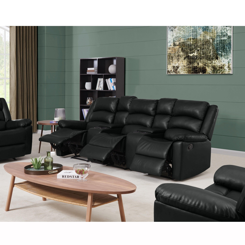 Details about Copper Grove Herkdestad 3-seat Pillow Top Arm Recliner Sofa