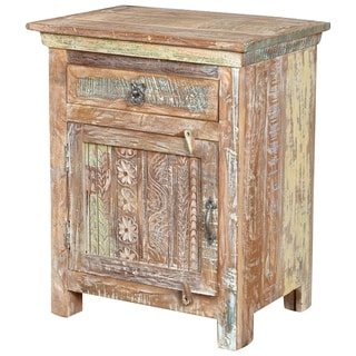 Aiden Collection 1 Drawer 1 Door (LEFT) Carved Nightstand