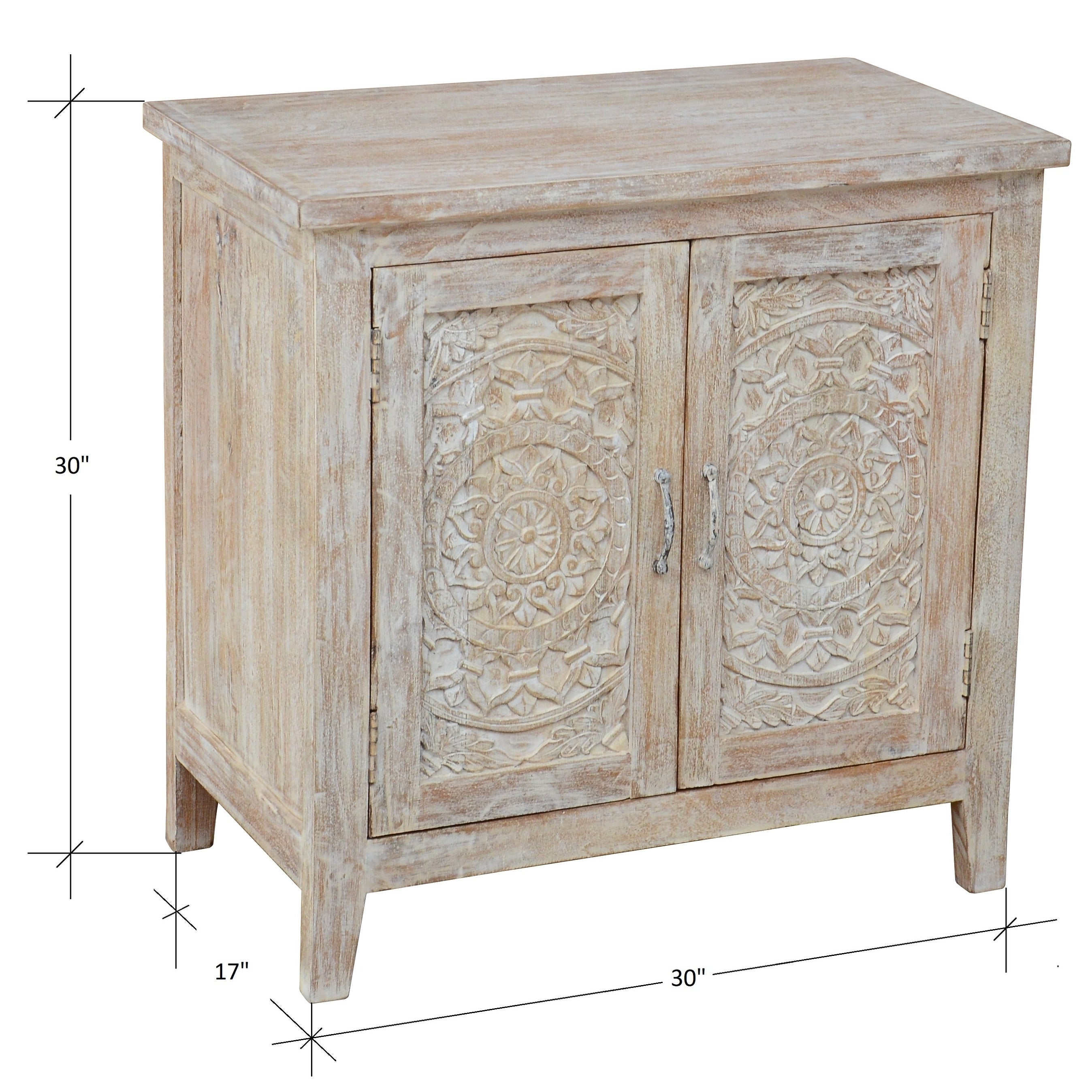 Santiago Collection 2 Door Carved Nightstand