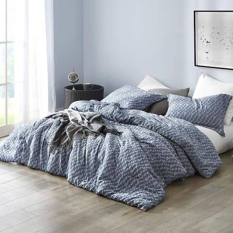 Navy Slate - Oversized Comforter - 100% Yarn Dyed Cotton Bedding