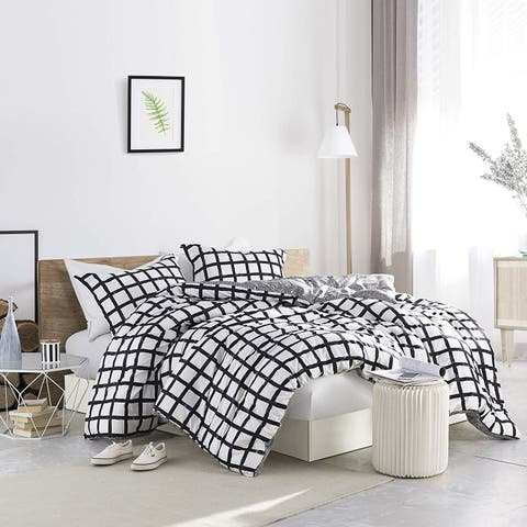 Chroma - Black and White - Oversized Comforter - 100% Cotton Bedding