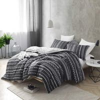 Trinity -Faded Black and White - Oversized Comforter - 100% Cotton Bedding