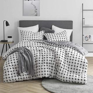 Moda Black and White Striped - Oversized Comforter - 100% Cotton Bedding