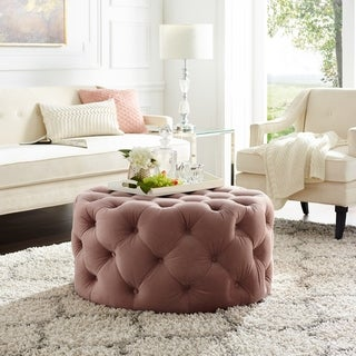 Link to Silver Orchid Holm Round Cocktail Ottoman Similar Items in Living Room Furniture