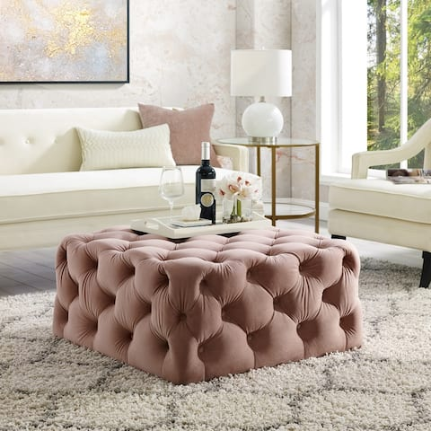 Silver Orchid Holm Square Cocktail Ottoman
