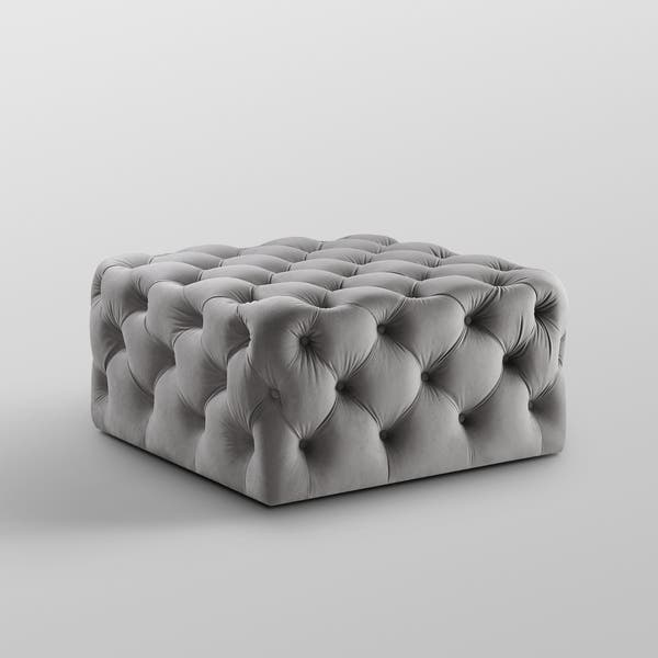 Magnificent Shop Silver Orchid Holm Square Cocktail Ottoman On Sale Short Links Chair Design For Home Short Linksinfo
