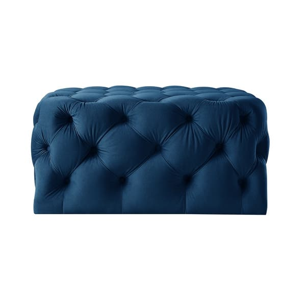 Awe Inspiring Shop Silver Orchid Holm Square Cocktail Ottoman On Sale Dailytribune Chair Design For Home Dailytribuneorg