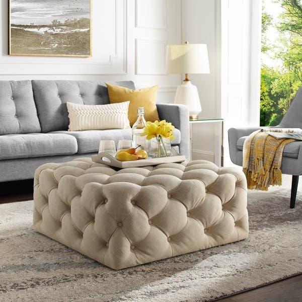 Marvelous Shop Silver Orchid Holm Square Cocktail Ottoman On Sale Short Links Chair Design For Home Short Linksinfo