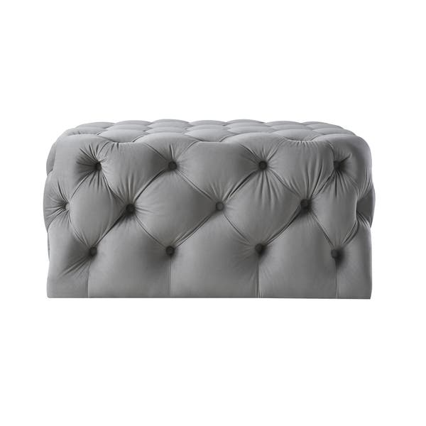 Brilliant Shop Silver Orchid Holm Square Cocktail Ottoman On Sale Short Links Chair Design For Home Short Linksinfo