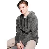 Mens Cozy Sherpa Fleece 1/4 Zip Hoodie