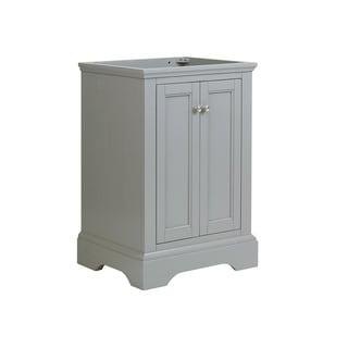 "Fresca Windsor 24"" Gray Textured Traditional Bathroom Cabinet"